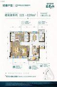 韶关碧桂园3室2厅2卫121--129平方米户型图