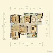 中珠・在水一方4室2厅2卫144平方米户型图
