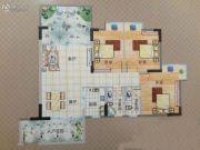 东馨美居3室2厅2卫110平方米户型图