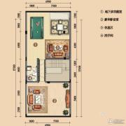 浪琴湾2室1厅1卫113平方米户型图