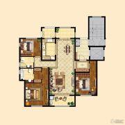 中粮祥云3室2厅2卫127平方米户型图