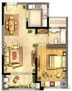 绿地峰云汇1室1厅1卫73平方米户型图