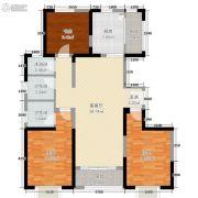 东尚天誉3室2厅2卫98平方米户型图