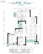 朗宁郡3室2厅2卫94平方米户型图