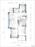 尚�Z瑞府3室2厅2卫118平方米户型图