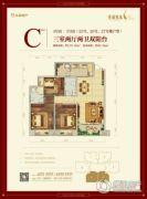 秀湖鹭岛国际社区3室2厅2卫89平方米户型图