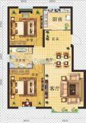 金地・红大蓝湾2室2厅1卫91平方米户型图