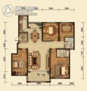 中鸿基名都3室2厅2卫142平方米户型图