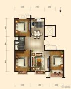 弘仁里3室2厅1卫0平方米户型图