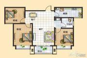 富景国际3室2厅1卫114平方米户型图