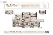 姚江金茂府4室2厅2卫128平方米户型图