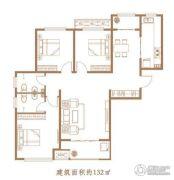 亢龙・朗�o3室2厅2卫132平方米户型图