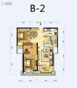 福星惠誉东湖城2室2厅1卫92平方米户型图