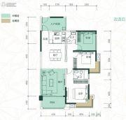 聚龙・天誉湾2室2厅2卫110平方米户型图