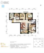 满堂悦MOMΛ3室2厅1卫96平方米户型图
