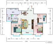 北辰御花园3室2厅1卫108平方米户型图