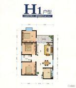 翰林尚品3室2厅1卫97平方米户型图