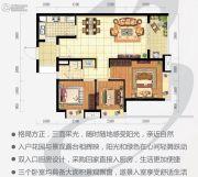 时代云图(广州)3室2厅1卫80平方米户型图