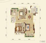 保利清能西海岸3室2厅1卫90--91平方米户型图