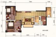 达达公馆2室2厅1卫49平方米户型图