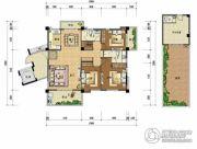 上上城・壹号院4室2厅3卫173平方米户型图