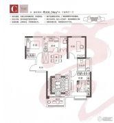 烟台莱山宝龙广场3室2厅1卫101平方米户型图