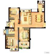西海岸广场3室2厅0卫98平方米户型图