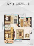 空港新城3室2厅2卫121平方米户型图