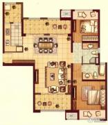 保利・海上五月花2室2厅2卫115平方米户型图