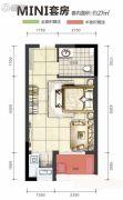 旭阳台北城敦美里1室0厅1卫27平方米户型图