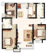 意境兰庭3室2厅2卫130平方米户型图