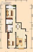 建国路阳光100大厦2室2厅1卫93平方米户型图