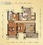 天隆三千海3室2厅2卫110平方米户型图