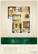 保利花园2室2厅1卫89--92平方米户型图