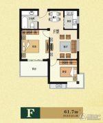 云海观澜2室2厅1卫61平方米户型图