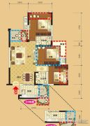 领地・国际公馆3室2厅2卫87平方米户型图