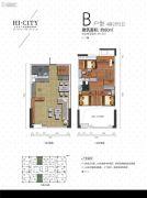 侨建・HI CITY4室2厅2卫80平方米户型图