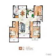 绿地泰晤士新城3室2厅2卫125平方米户型图
