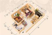 远洋翡丽郡2室2厅1卫78平方米户型图