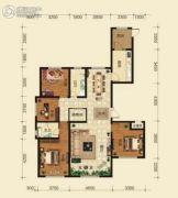 和兴文园4室2厅2卫159平方米户型图