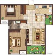 荣邦城2室1厅1卫0平方米户型图