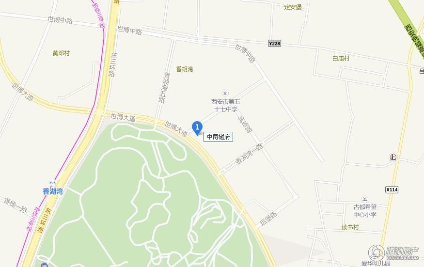 中南·樾府 交通图
