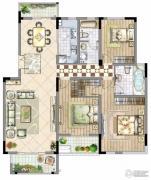 国信・上城3室2厅2卫0平方米户型图