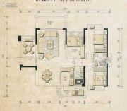 君和园3室2厅2卫124平方米户型图