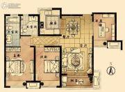 九龙仓时代上城国宾�o3室2厅2卫105平方米户型图