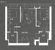 华庭悦城江景公寓2室2厅2卫67平方米户型图