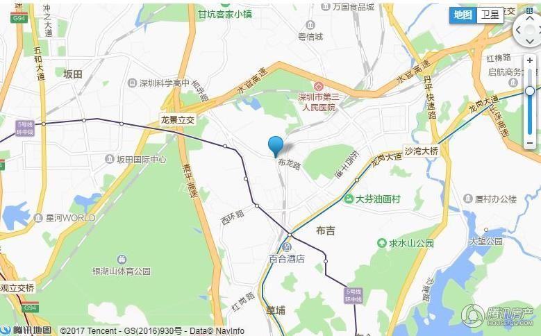 玺樾山交通图
