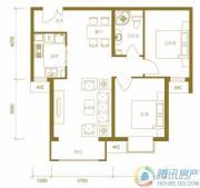 北京新天地2室2厅1卫88平方米户型图
