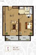 三岛明珠1室1厅1卫85平方米户型图