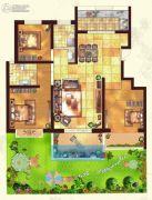 金色家园3室2厅2卫140平方米户型图